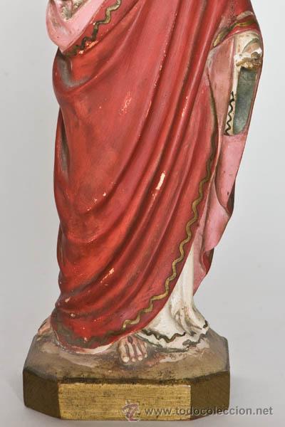 Arte: Sagrado Corazón de Jesus, escultura de Olot - Foto 3 - 45523138