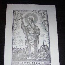 Arte: ANTIGUO GRABADO PRINCIPIO S. XIX SANTA ELENA - MANRESA POR PABLO ROCA - 32X22 CM. . Lote 45527438