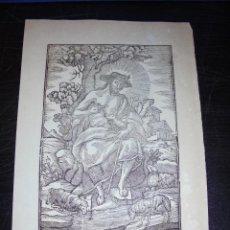 Arte: ANTIGUO GRABADO PRINCIPIO S. XIX EL DIVINO PASTOR - MANRESA POR PABLO ROCA - 32X22 CM. . Lote 45527475