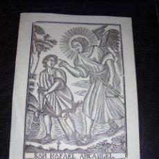 Arte: ANTIGUO GRABADO PRINCIPIO S. XIX SAN RAFAEL ARCANGEL MANRESA POR PABLO ROCA - 32X22 CM. . Lote 45527607