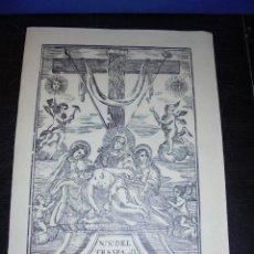 Arte: ANTIGUO GRABADO PRINCIPIO S. XIX NTRA. SRA. DEL TRASPASO 32X22 CM. . Lote 45527655