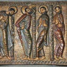 Arte: PLACA DE TERRACOTA CON ESCENA DE 4 APOSTOLES EN RELIEVE. Lote 45531759