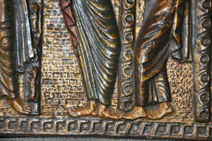 Arte: PLACA DE TERRACOTA CON ESCENA DE 4 APOSTOLES EN RELIEVE - Foto 4 - 45531759