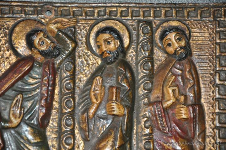 Arte: PLACA DE TERRACOTA CON ESCENA DE 4 APOSTOLES EN RELIEVE - Foto 5 - 45531759