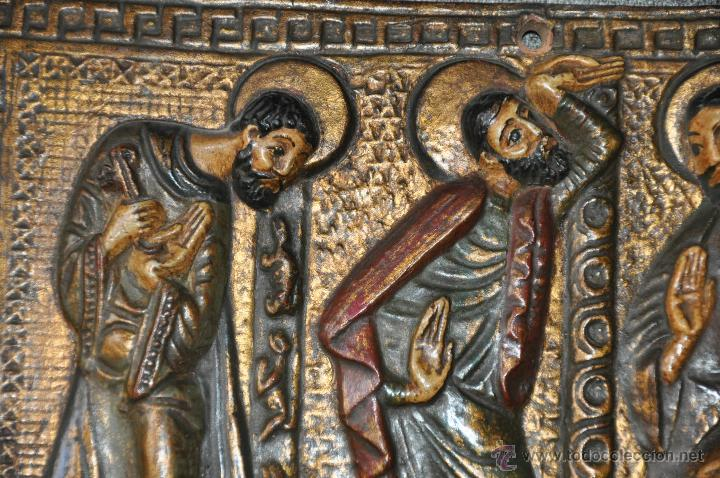 Arte: PLACA DE TERRACOTA CON ESCENA DE 4 APOSTOLES EN RELIEVE - Foto 6 - 45531759