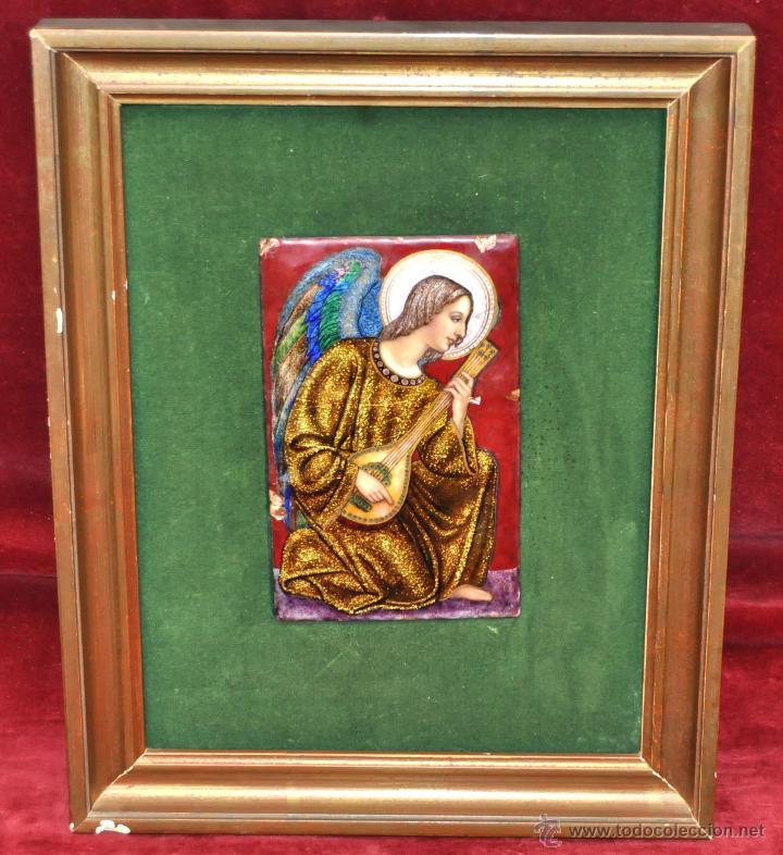 BONITO ESMALTE DE TEMA RELIGIOSO DE LOS AÑOS 40. FIRMADO EN LA BASE (Arte - Arte Religioso - Pintura Religiosa - Otros)