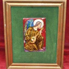 Arte: BONITO ESMALTE DE TEMA RELIGIOSO DE LOS AÑOS 40. FIRMADO EN LA BASE. Lote 45579338