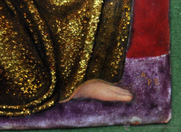 Arte: BONITO ESMALTE DE TEMA RELIGIOSO DE LOS AÑOS 40. FIRMADO EN LA BASE - Foto 7 - 45579338