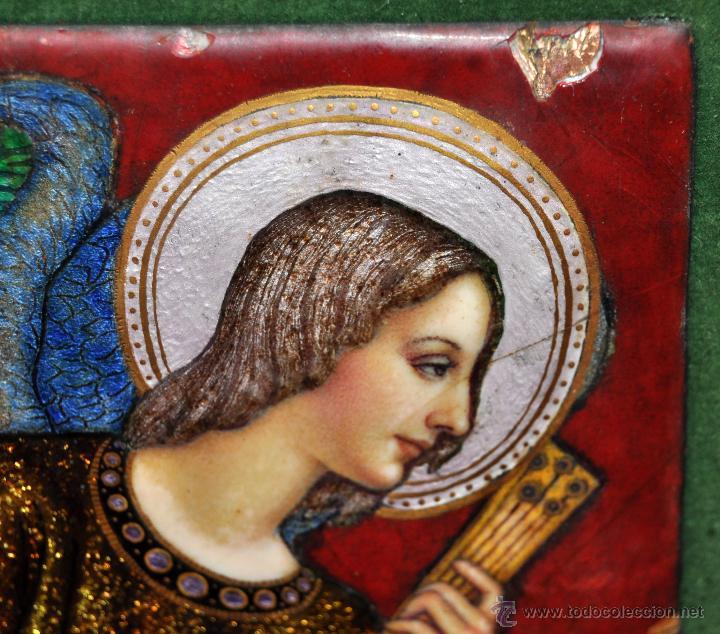 Arte: BONITO ESMALTE DE TEMA RELIGIOSO DE LOS AÑOS 40. FIRMADO EN LA BASE - Foto 8 - 45579338