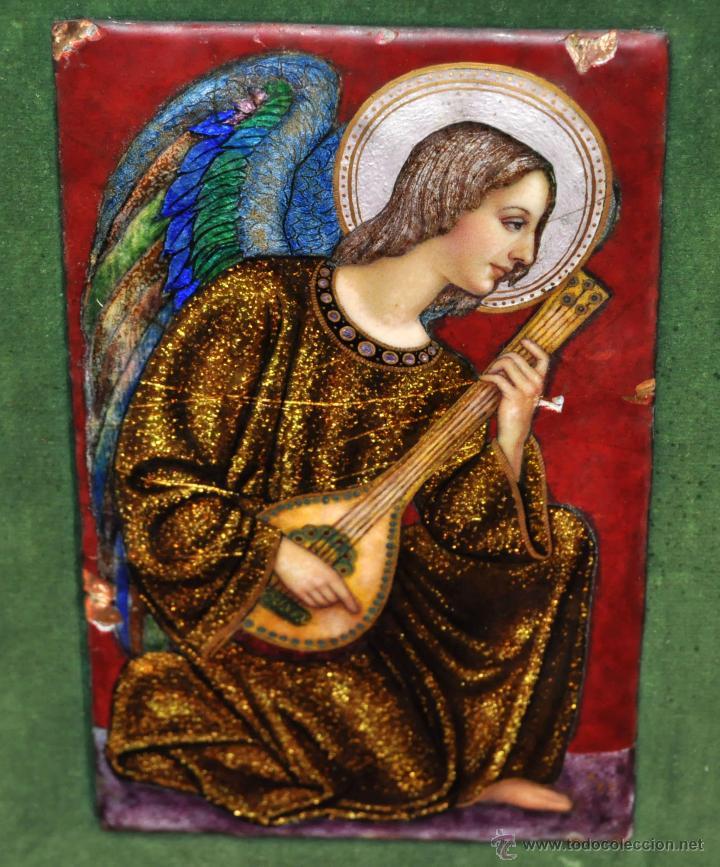 Arte: BONITO ESMALTE DE TEMA RELIGIOSO DE LOS AÑOS 40. FIRMADO EN LA BASE - Foto 11 - 45579338