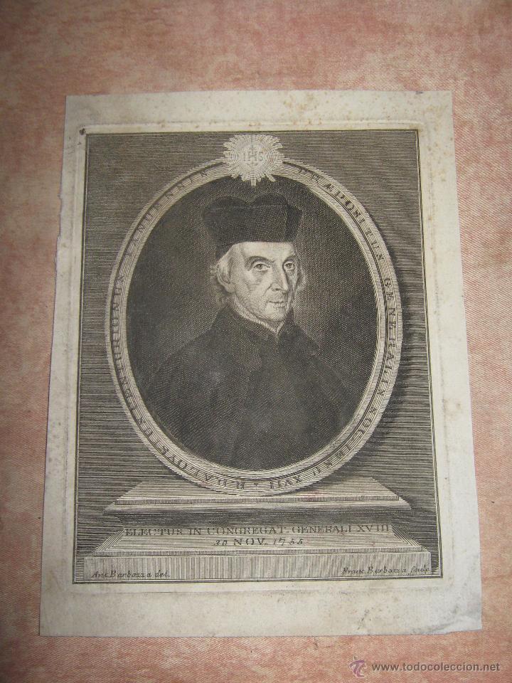 GRABADO DEL R.P ALOYSUS CENTURIONUS ELEG. EN CONGREGACION GENERAL S. XIX - 17,5X23 CM (Arte - Arte Religioso - Grabados)