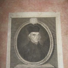 Arte: GRABADO DEL R.P ALOYSUS CENTURIONUS ELEG. EN CONGREGACION GENERAL S. XIX - 17,5X23 CM. Lote 45587049