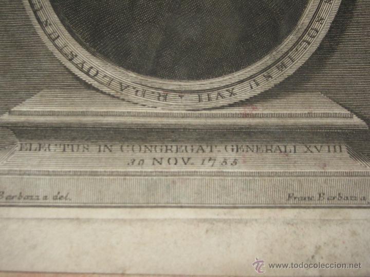 Arte: GRABADO DEL R.P ALOYSUS CENTURIONUS ELEG. EN CONGREGACION GENERAL S. XIX - 17,5X23 CM - Foto 2 - 45587049