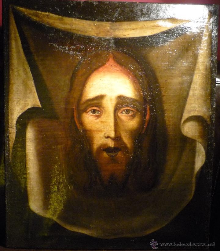 PRECIOSO OLEO DE LA SANTA FAZ. ESCUELA ESPAÑOLA. SIGLO XVII. (Arte - Arte Religioso - Pintura Religiosa - Oleo)