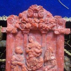 Arte: CORAL ROJO MEDITERRANEO ESCULTURA RELIGIOSA VIRGEN NIÑO JESUS S XV / XVI. Lote 45853395
