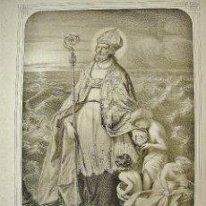 Arte: SAN NICOLÁS. GRABADO LITOGRÁFICO. EDITADO POR TURGIS EN PARÍS. SIGLO XIX.. Lote 45865468
