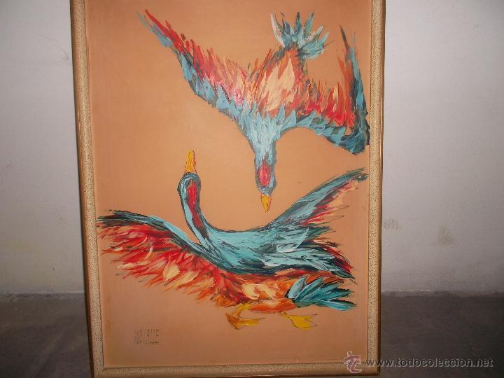 PINTURA SOBRE TABLA ANTIGUA (Arte - Arte Religioso - Pintura Religiosa - Otros)