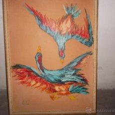 Arte - pintura sobre tabla antigua - 45905830