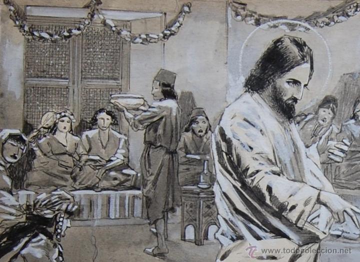 Arte: BODAS DE CANÁ: FRANZ GAILLIARD (Bélgica, 1861-1932) - Foto 4 - 28359457
