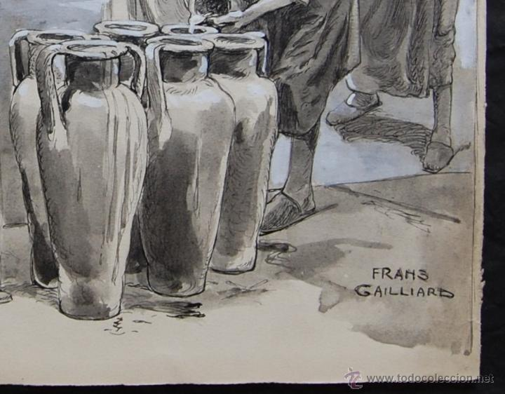 Arte: BODAS DE CANÁ: FRANZ GAILLIARD (Bélgica, 1861-1932) - Foto 5 - 28359457