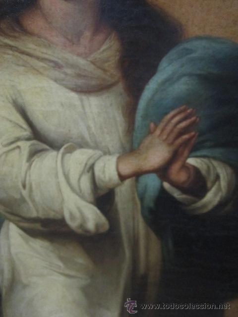 Arte: Antiguo óleo sobre lienzo - Inmaculada - Parte posterior Sevilla. 85 x 127 cms. Sin firma. - Foto 4 - 46141803