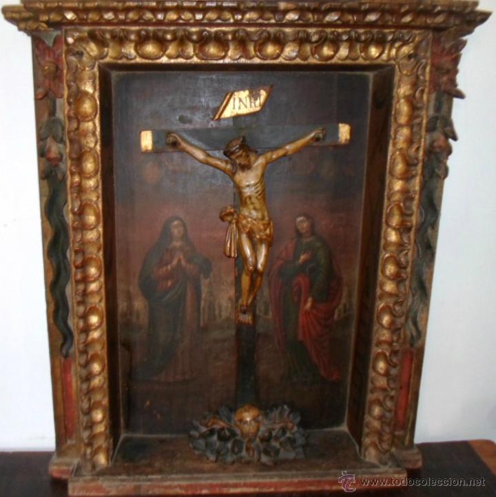 CALVARIO DEL SXVI. (Arte - Arte Religioso - Retablos)