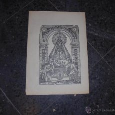 Arte: ANTIGUA LAMINA S.XIX VIRGEN B.T.F.V. - 36X25,5 CM. . Lote 46173531