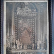 Arte: LITOGRAFIA VIRGEN DEL PILAR FIRMADA POR EL ARZOBISPO. Lote 183216335