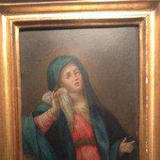 Arte: OLEO SOBRE COBRE, EXCELENTE IMAGEN VIRGEN SANTA, SIGLO XVIII, 15X21CM, PERFECTO ESTADO. Lote 46223919