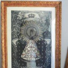 Arte: MAGNIFICO GRABADO COLOREADO DE LA VIRGEN DEL PILAR CON MARCO MODERNISTA DE LA EPOCA. Lote 46234337