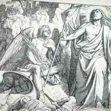 Arte: BONITO GRABADO ALEMAN. SIGLO XIX. FIRMADO POR A. GABER. MATTHAÜS XXVIII, 4. BIBLIA. MATIAS. RELIGIÓN. Lote 46241967