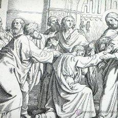Arte: ANTIGUO GRABADO ALEMÁN. SIGLO XIX. FIRMADO POR K. OERTEL. JOHANNES XX, 28. BIBLIA. JUAN. RELIGIÓN. Lote 46242693