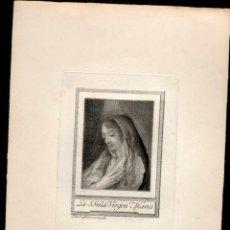 Arte: GRABADO ANTIGUO DE JUAN ANTONIO SALVADOR CARMONA. LA SANTÍSIMA VIRGEN MARIA. Lote 46263325