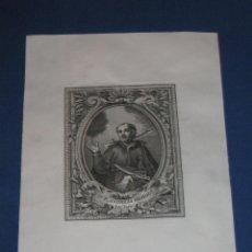 Arte: GRABADO DEL PADRE ANDREAS BOBOLA - SACERDOTE JESUITA - APROX 1850. Lote 46318241