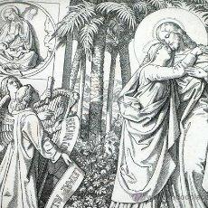 Arte: ANTIGUO GRABADO ALEMÁN. SIGLO XIX. FIRMADO - A.GABER. JOHANNES XIX, 26. ORIGEN BÍBLICO. RELIGIOSO. Lote 46334944
