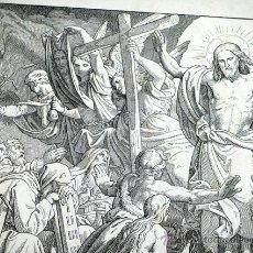 Arte: ANTIGUO GRABADO ALEMÁN. SIGLO XIX. FIRMADO - A.GABER. I.PETRUS III, 19 ORIGEN BÍBLICO. RELIGIOSO. Lote 46335077