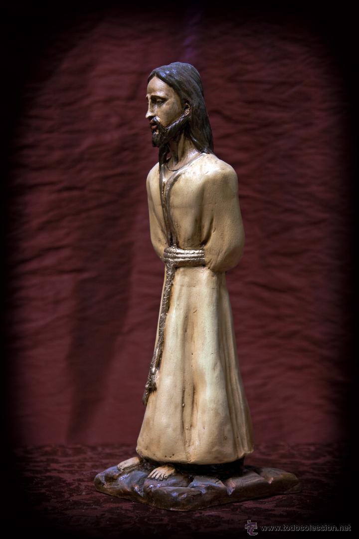 Arte: Cristo de 30 ctms realizado en terracota policromado. - Foto 3 - 43375598