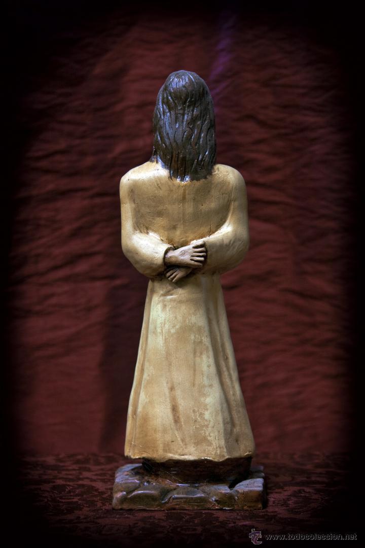 Arte: Cristo de 30 ctms realizado en terracota policromado. - Foto 6 - 43375598