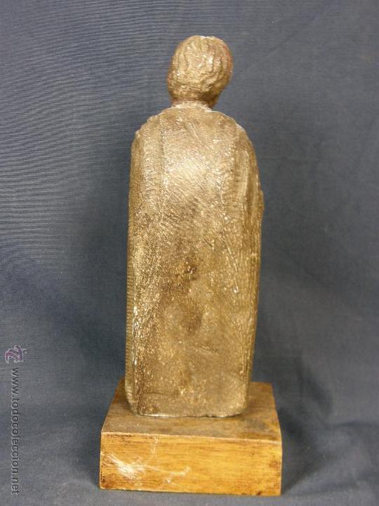 Arte: escultura santo evangelista cemento o similar moldeado inciso barnizado 2ª mitad s XX 20x8x7cms - Foto 3 - 46405965