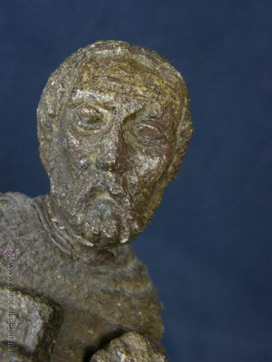 Arte: escultura santo evangelista cemento o similar moldeado inciso barnizado 2ª mitad s XX 20x8x7cms - Foto 8 - 46405965