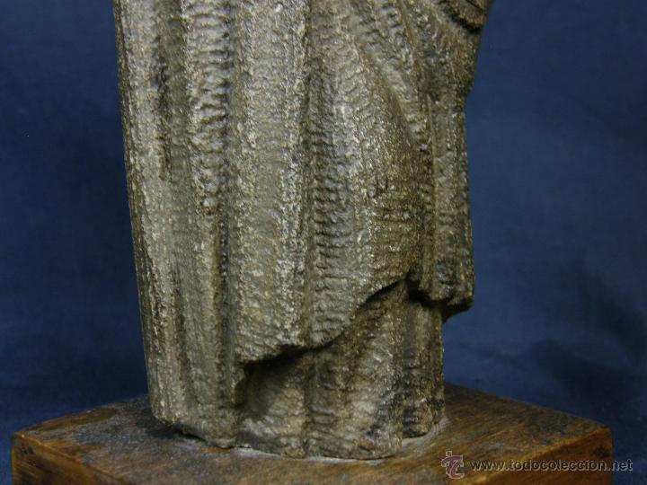 Arte: escultura santo evangelista cemento o similar moldeado inciso barnizado 2ª mitad s XX 20x8x7cms - Foto 10 - 46405965