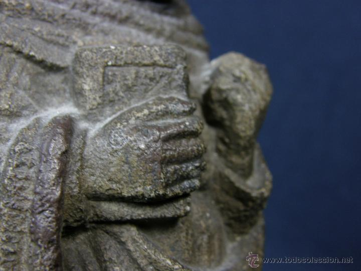 Arte: escultura santo evangelista cemento o similar moldeado inciso barnizado 2ª mitad s XX 20x8x7cms - Foto 12 - 46405965
