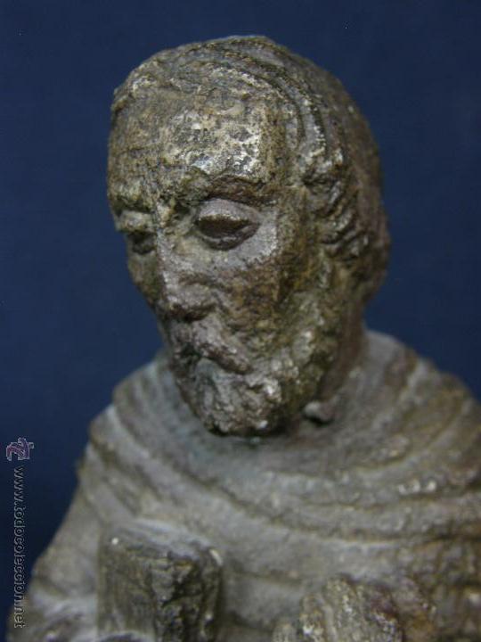 Arte: escultura santo evangelista cemento o similar moldeado inciso barnizado 2ª mitad s XX 20x8x7cms - Foto 14 - 46405965