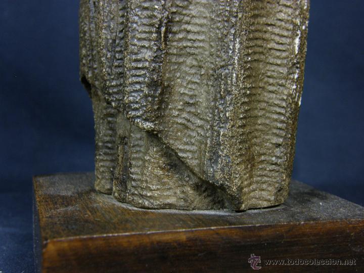 Arte: escultura santo evangelista cemento o similar moldeado inciso barnizado 2ª mitad s XX 20x8x7cms - Foto 15 - 46405965