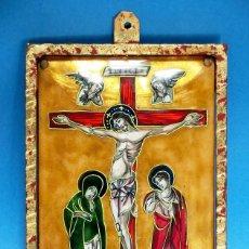 Arte: ANTIGUO ESMALTE CON MOTIVO BÍBLICO. REALIZADO AL FUEGO. FRANCÉS. PPIO S XX. TEMÁ RELIGIOSO.. Lote 46426995
