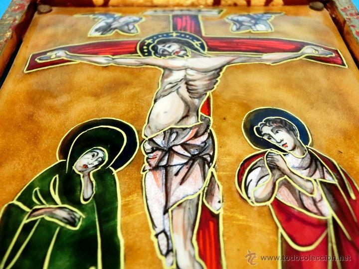 Arte: ANTIGUO ESMALTE CON MOTIVO BÍBLICO. REALIZADO AL FUEGO. FRANCÉS. PPIO S XX. TEMÁ RELIGIOSO. - Foto 9 - 46426995