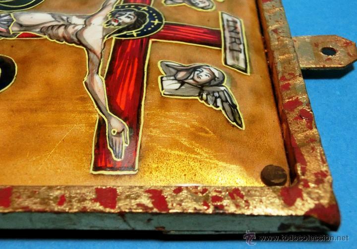 Arte: ANTIGUO ESMALTE CON MOTIVO BÍBLICO. REALIZADO AL FUEGO. FRANCÉS. PPIO S XX. TEMÁ RELIGIOSO. - Foto 12 - 46426995