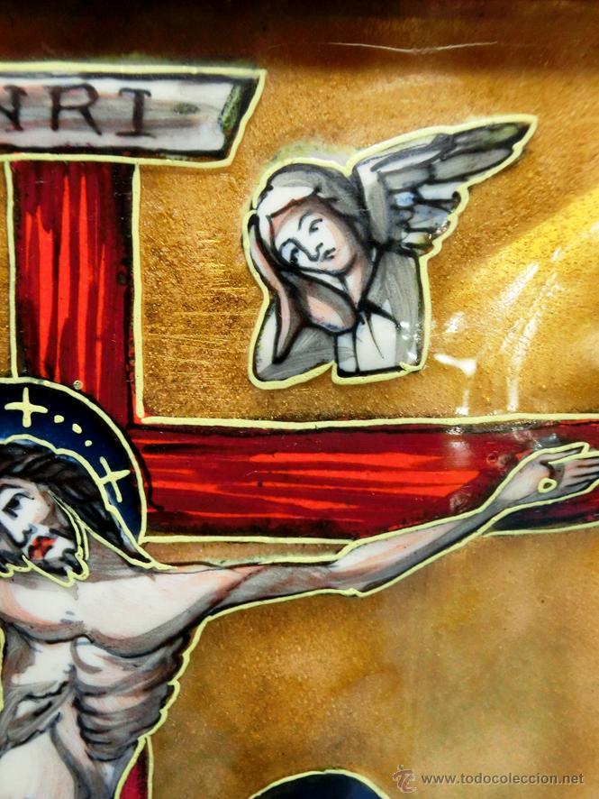 Arte: ANTIGUO ESMALTE CON MOTIVO BÍBLICO. REALIZADO AL FUEGO. FRANCÉS. PPIO S XX. TEMÁ RELIGIOSO. - Foto 20 - 46426995