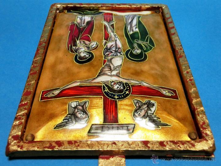 Arte: ANTIGUO ESMALTE CON MOTIVO BÍBLICO. REALIZADO AL FUEGO. FRANCÉS. PPIO S XX. TEMÁ RELIGIOSO. - Foto 24 - 46426995