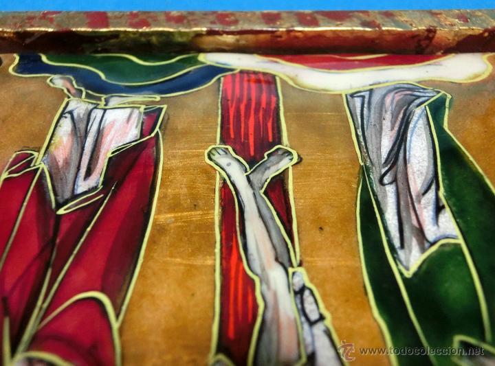 Arte: ANTIGUO ESMALTE CON MOTIVO BÍBLICO. REALIZADO AL FUEGO. FRANCÉS. PPIO S XX. TEMÁ RELIGIOSO. - Foto 27 - 46426995